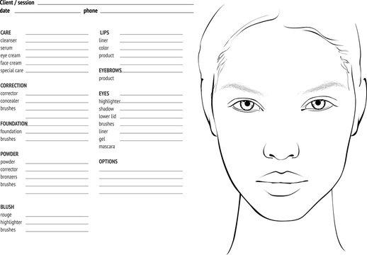 Makeup Chart Photos Royalty Free