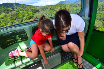 Skyrail Rainforest Cableway above Barron Gorge National Park Que