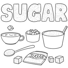 vector set of sugar