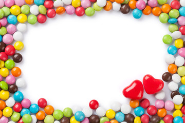 Colorful candies frame