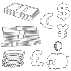 vector set of saving money