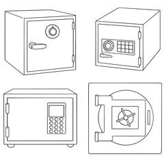vector set of safe