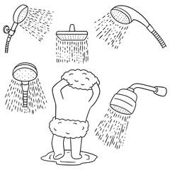 vector set of shower