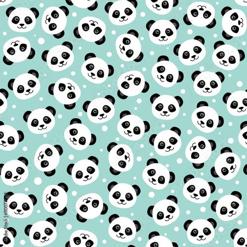 Cute panda face. Wallpaper