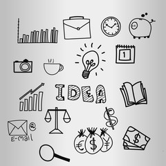 idea business doodle design vector