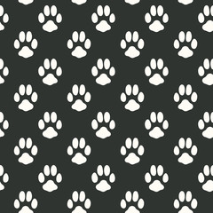 Seamless pattern with animal footprint texture