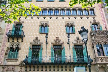 House Facades in Barcelona, Spain
