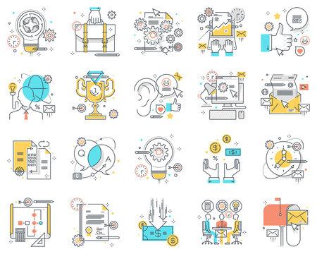 Project development concept illustrations