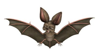 3D Rendering Bat on White