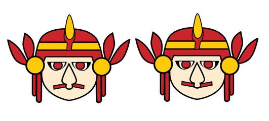 Indianer mit Bart