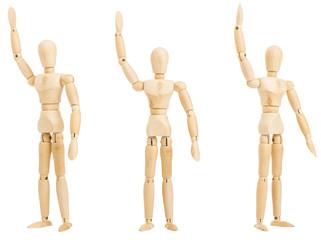 figure hand up