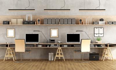 Minimalist architectural office