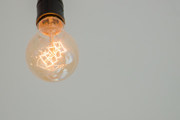 Light bulb decoration with blank space