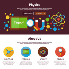 Physics Science Flat Web Design Template