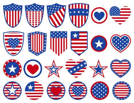 Set of USA symbols