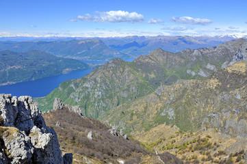 Lago di Lecco panorama dalla Grigna