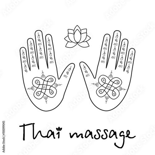 Logo thai massage hands with the thai pattern and a lotus flower logo thai massage hands with the thai pattern and a lotus flower mightylinksfo