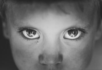Eyes close-up little boy Wall mural
