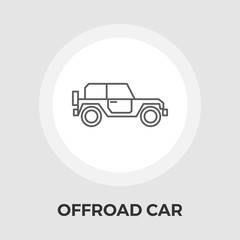 Offroad car vector flat icon
