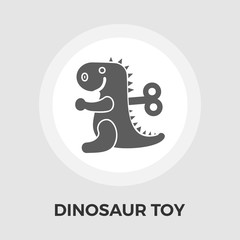 Dinosaur toy flat icon