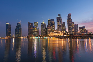 View of the Singapore by night - Landscape