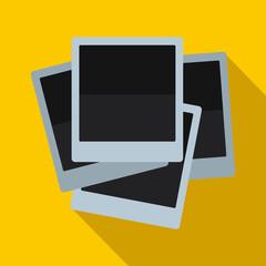 Photo frames icon, flat style