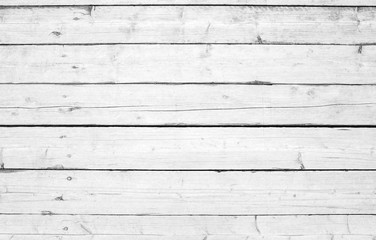 Old wooden wall with white paint, background photo