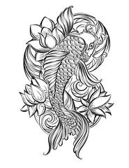 koi carp tatoo 1