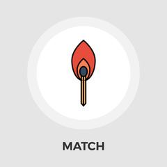 Match vector flat icon