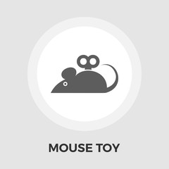 Mouse toy vector flat icon