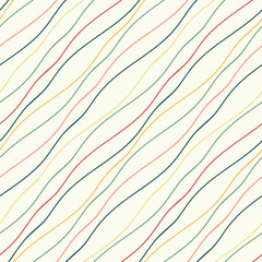 Seamless pattern with wavy lines