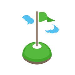 Vector golf logo teamplate. Golf club logo design.