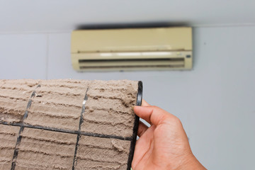 Dust vent air conditioner ,air conditioner background