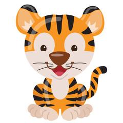 Cute tiger vector illustration