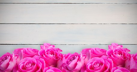 Composite image of pink flowers