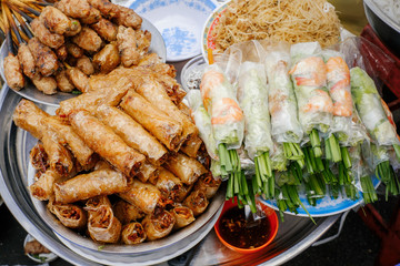 Traditional vietnamese street food