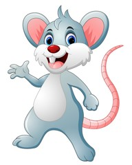 Happy mouse cartoon