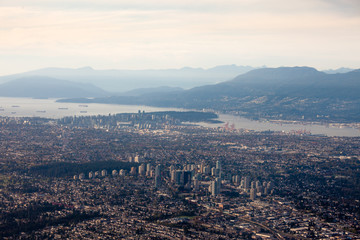 Fraser Valley Lower Mainland Vancouver city aerial