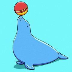 funny cartoon cute fat Navy seal illustration