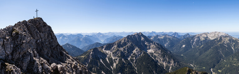 Panorama Gipfel Kreuzspitze