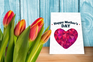 Composite image of tulip
