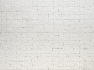 View of white brick wall texture background