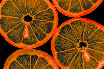 slices of orange - macro detail