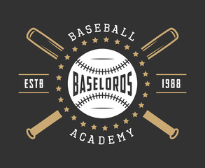 Vintage baseball logo, emblem, badge and design elements.