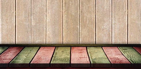 Composite image of red and khaki parquet