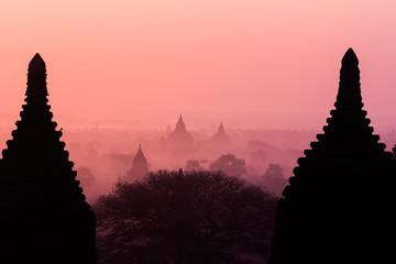 Silhouette Temples in Bagan