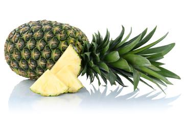 Ananas Frucht Scheiben Freisteller freigestellt isoliert
