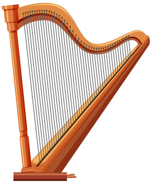 Harp made of wood
