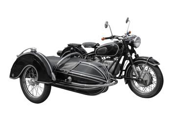 schönes altes Oldtimer Motorrad mit Seitenwagen