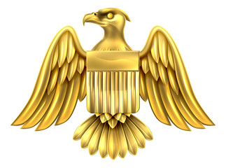 Golden American Eagle Shield